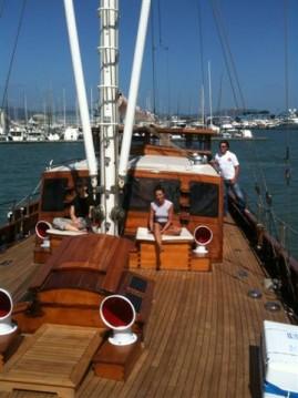 Rental Sailboat freeward with a permit