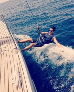 Boat rental Ibiza Island cheap Beneteau 473