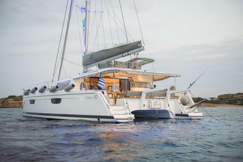 Rental Catamaran in Athens - Fountaine-PajotCatamaran Saba 50