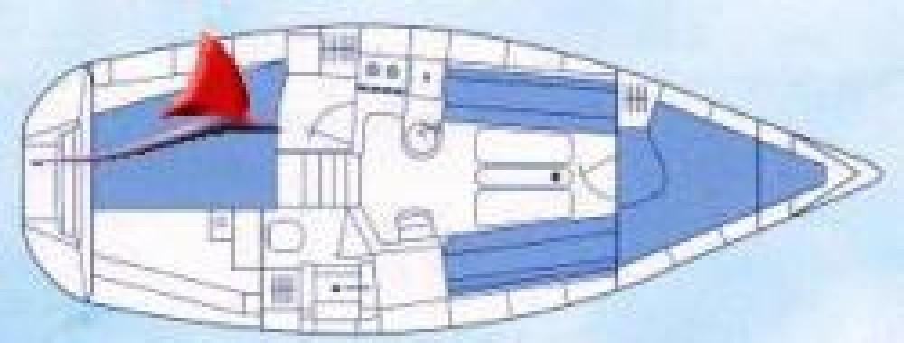 Rental Sailboat Etap with a permit