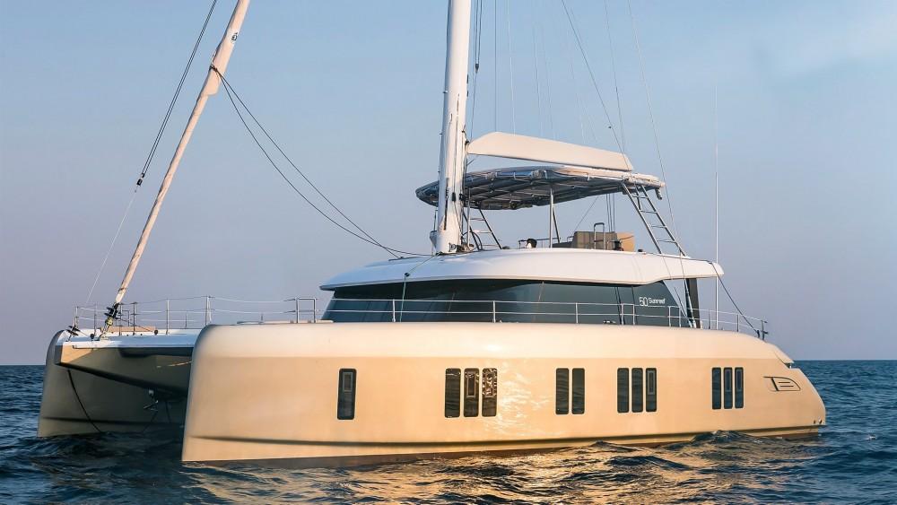 Boat rental Martinique cheap Sunreef 50