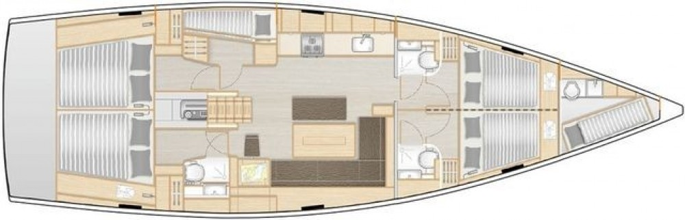 Boat rental Athens cheap Hanse 508