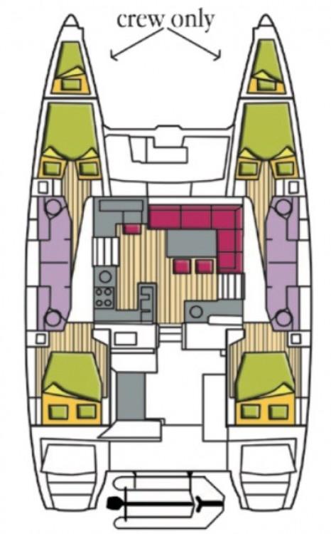 Rental Catamaran in  -  Lagoon 450 F