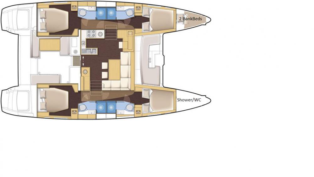 Rental Catamaran in Volos - Lagoon Lagoon 450
