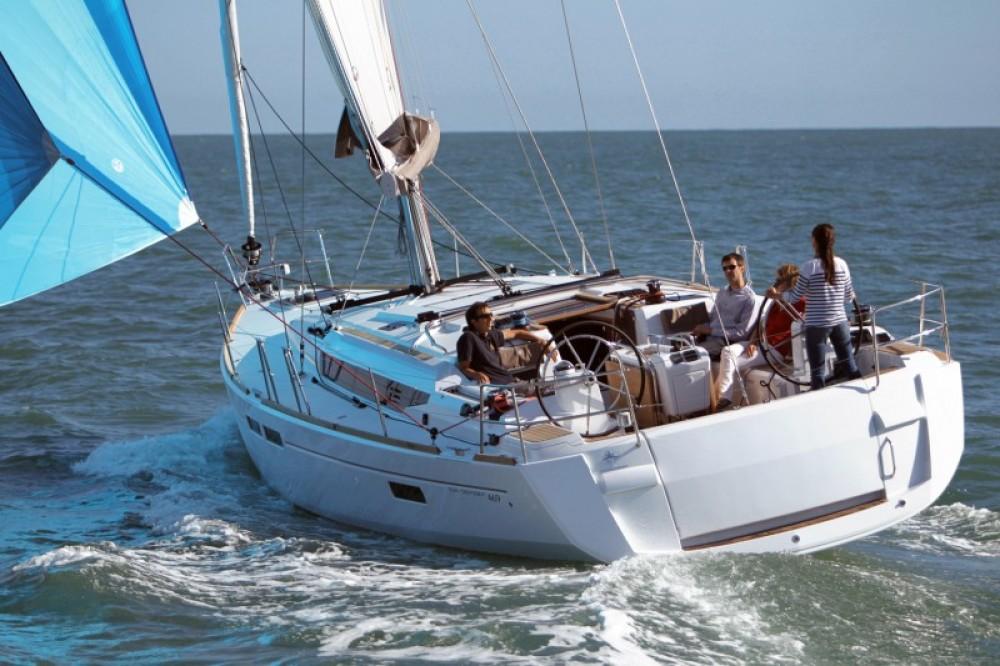 Jenneau Sun Odyssey 469 between personal and professional Corfu