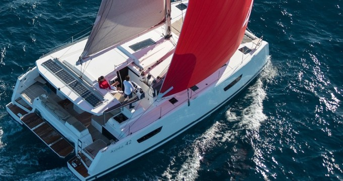Fountaine Pajot Astrea 42 between personal and professional Lefkas Egremni
