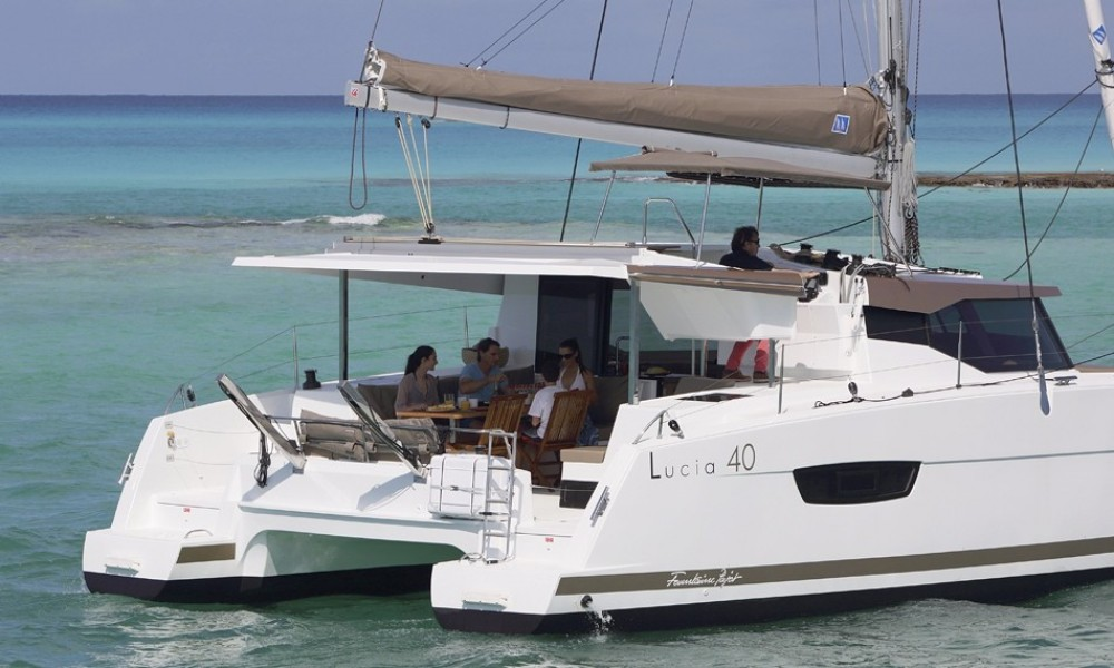 Fountaine Pajot Lucia 40 between personal and professional Skiathos
