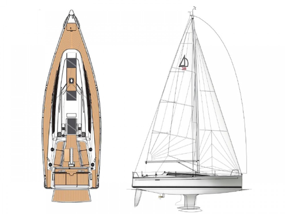 Rental Sailboat in  - Dehler Dehler 38