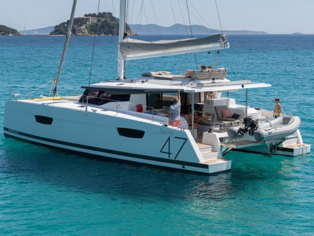 Fountaine Pajot Saona 47 between personal and professional Marmaris