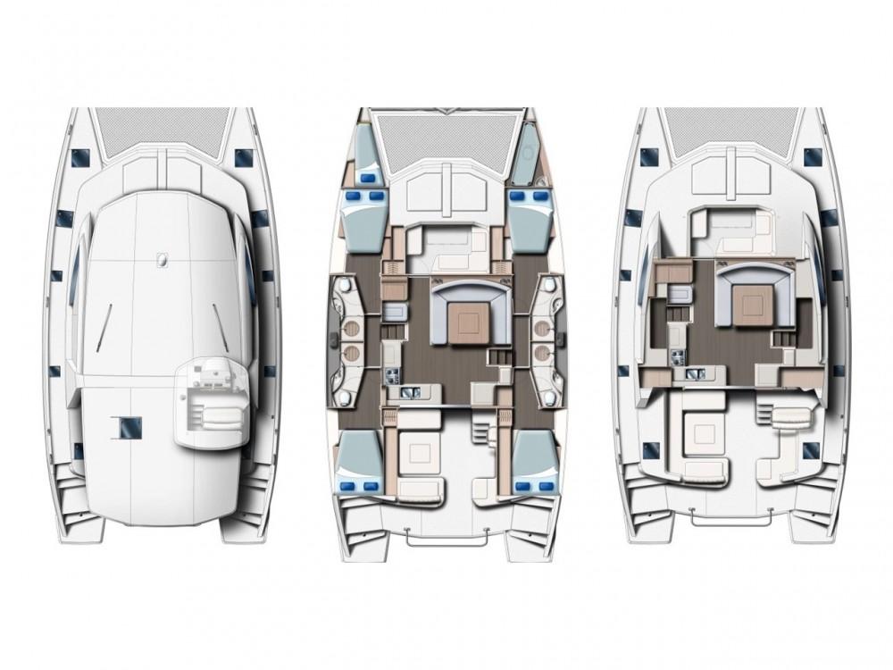 Rental Catamaran in Victoria - Leopard Leopard 48