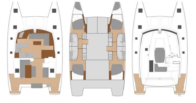 Boat rental Eden Island cheap Helia 44 Evolution