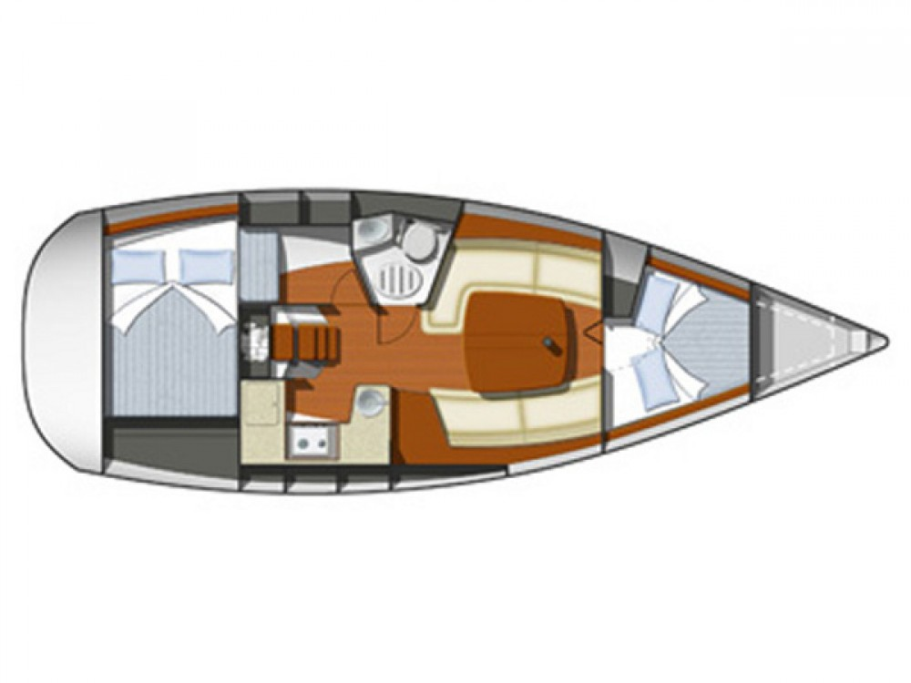 Jeanneau Sun Odyssey 32i between personal and professional Rogoznica