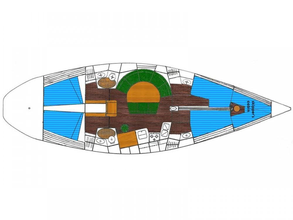 Boat rental Lávrio cheap Dromor Triton 48
