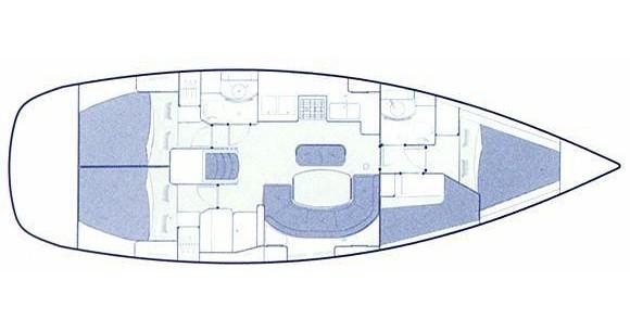Boat rental Bénéteau Oceanis 411 Clipper in Volos on Samboat