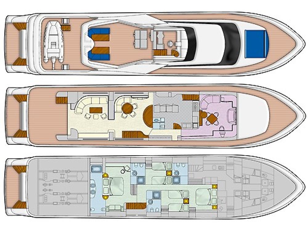 Rental yacht Mykonos -  Falcon 100ft on SamBoat