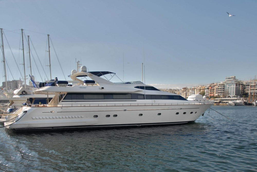 Falcon 100ft between personal and professional Mykonos