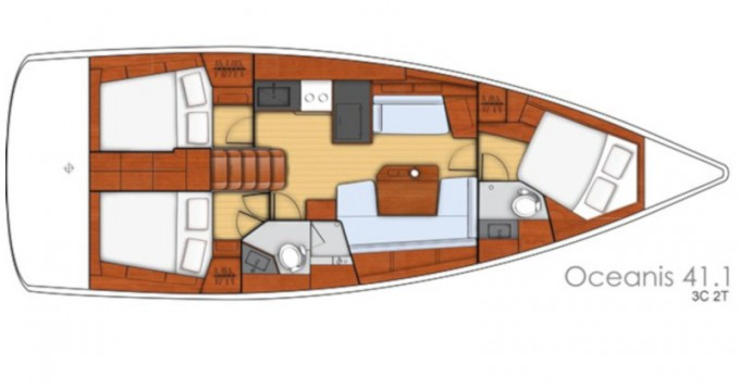 Boat rental Bénéteau Oceanis 41.1 in Fethiye on Samboat