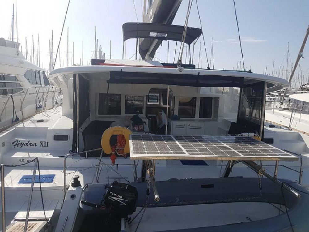 Boat rental Alimos Marina cheap Lagoon 450 Flybridge