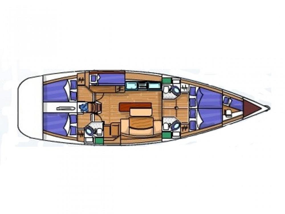 Boat rental Bénéteau Cyclades 50.5 in Sukošan on Samboat
