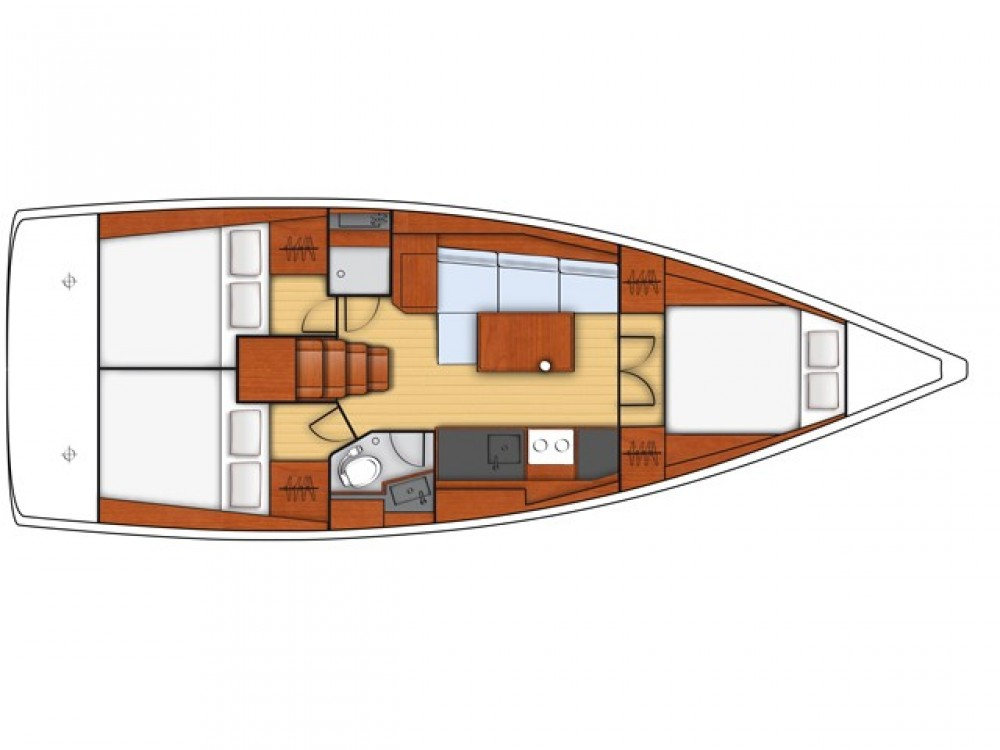 Bénéteau Oceanis 38 between personal and professional Limanu