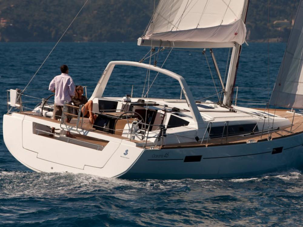 Boat rental Lefkada cheap Oceanis 45