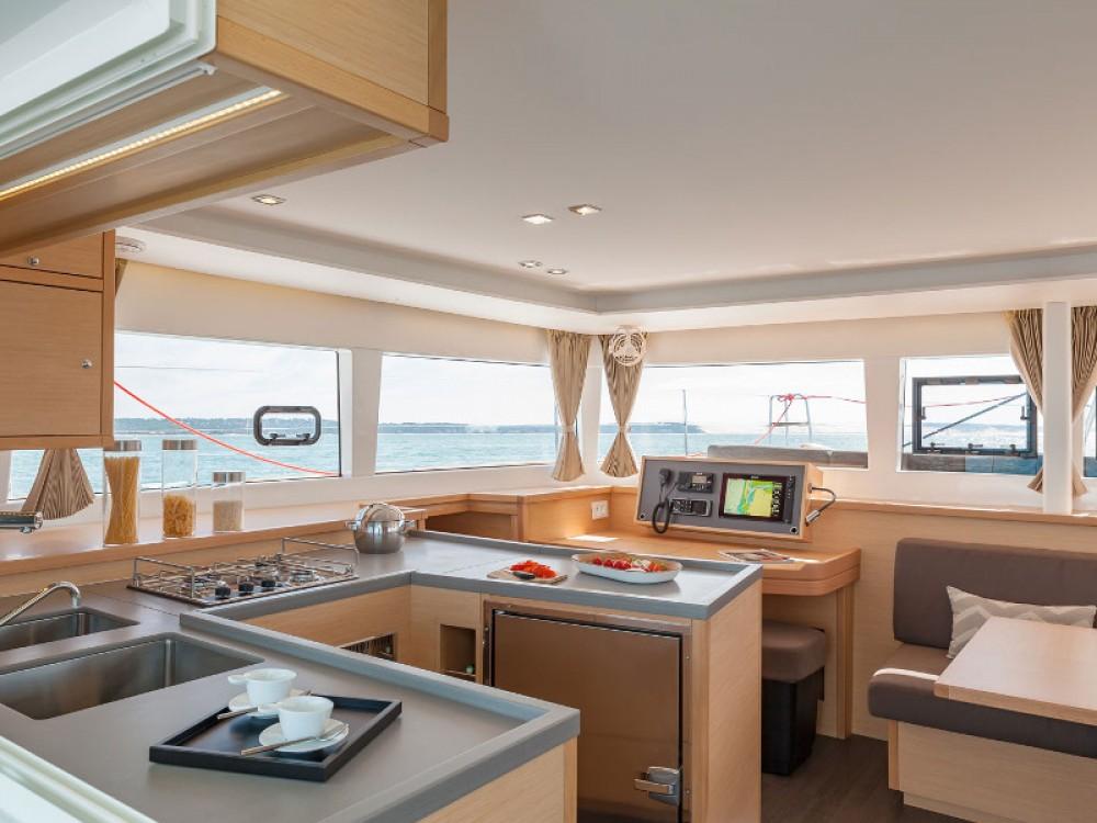 Boat rental Sukošan cheap Lagoon 450 Sport Luxury (equipped with A/C, radar, sonar, solar, el. toilets, el. winch, generator, dishwasher etc.)