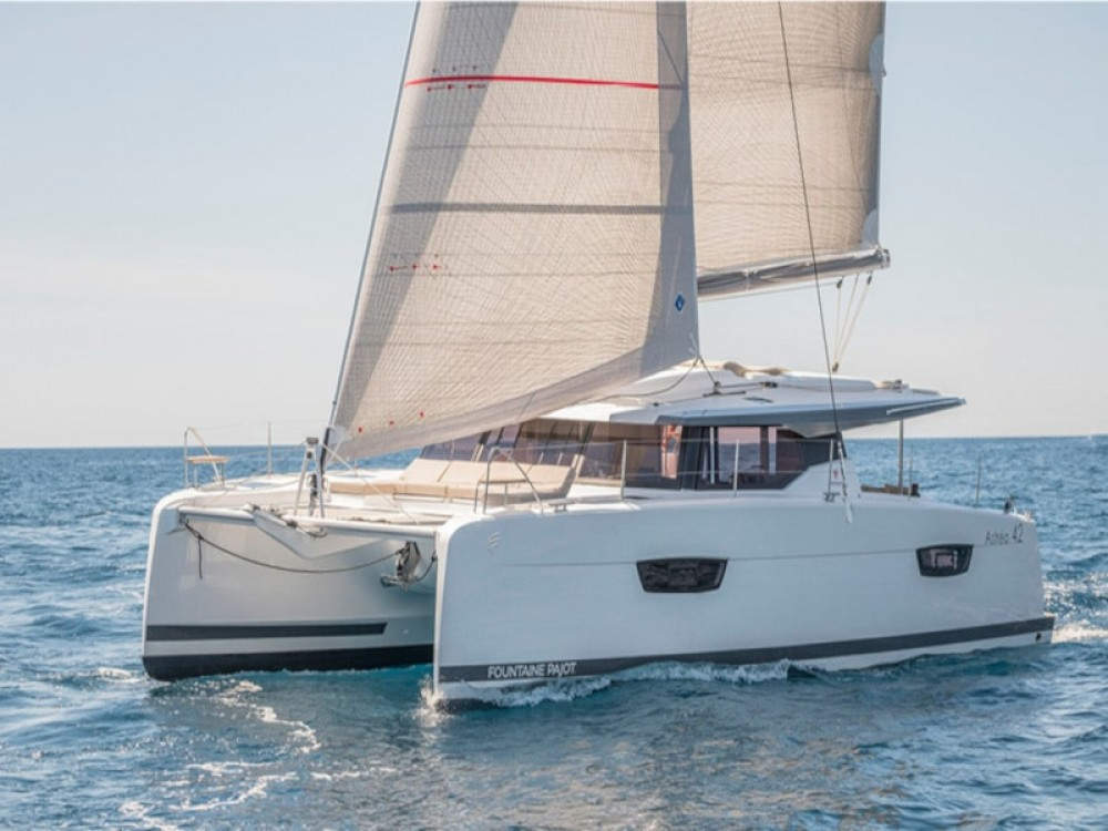 Fountaine Pajot Astrea 42 between personal and professional Lefkada