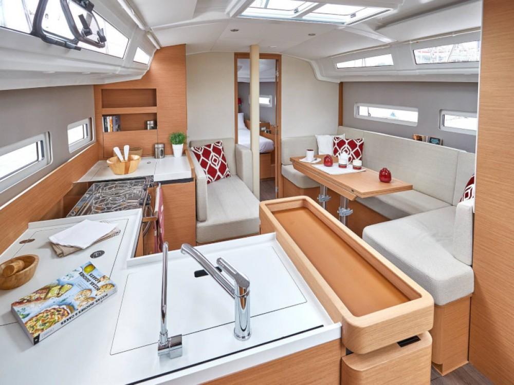 Boat rental Lefkada cheap Sun Odyssey 410
