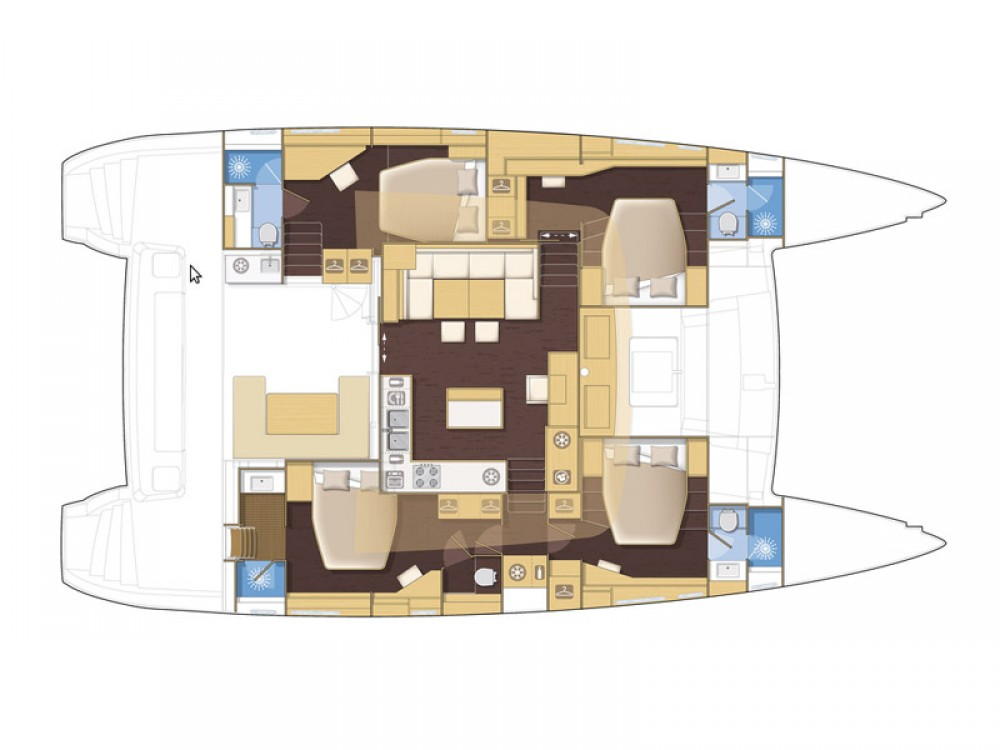 Boat rental Lávrio cheap Lagoon 560