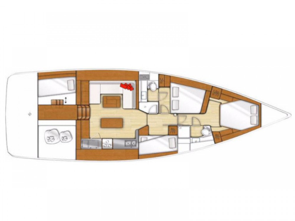 Boat rental Lávrio cheap Beneteau Sense 50