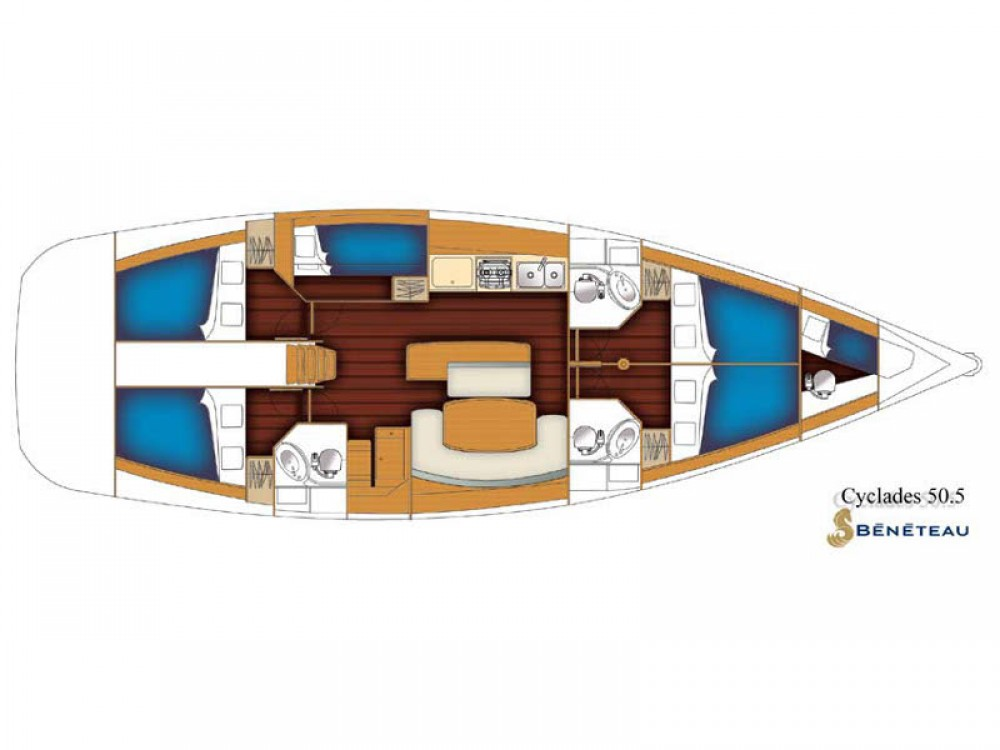 Rental yacht Lávrio - Bénéteau Beneteau Sense 50 on SamBoat