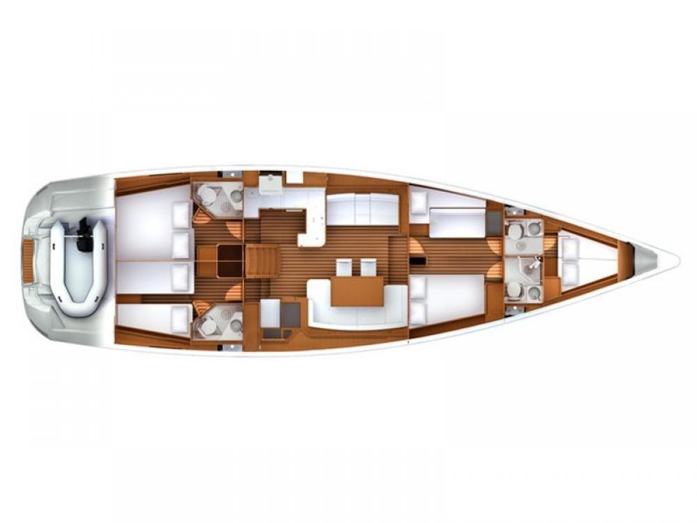Boat rental Marmaris cheap Jeanneau 57