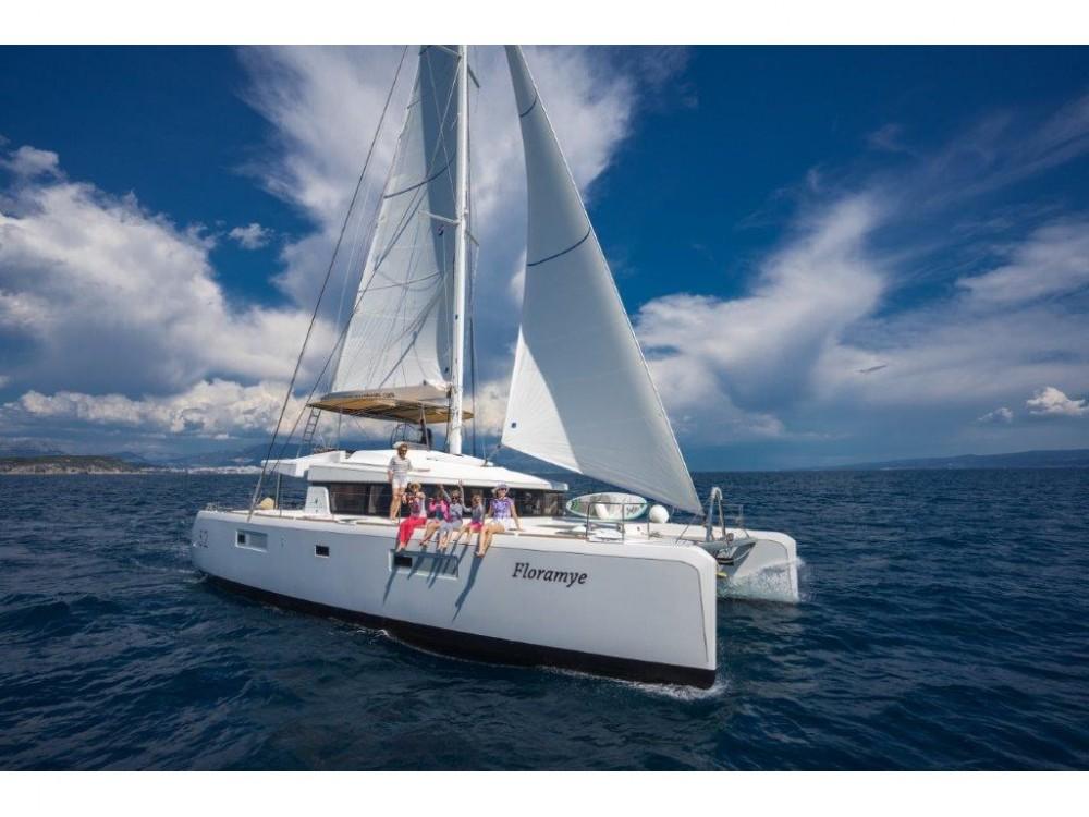 Rental yacht Split - Lagoon Lagoon 52  (2014) equipped with generator, A/C (saloon+cabins), water maker, ice maker, underwater lights, 2 X S.U.P. , kayak, water ski, 8 snorkel. sets on SamBoat