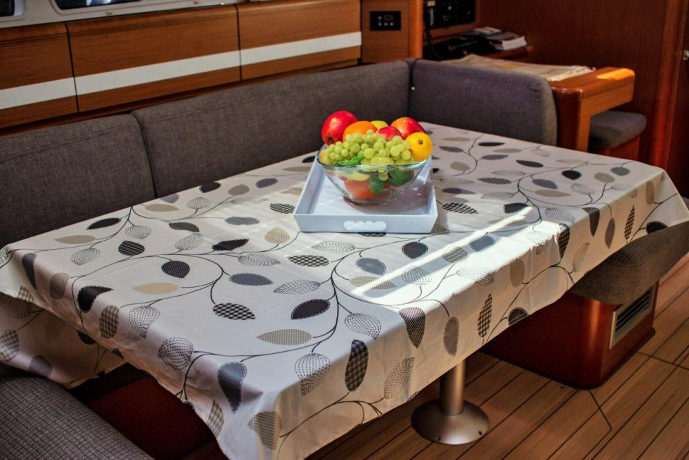 Rent a Jeanneau Jeanneau 53 (2013) equipped with roll mainsail, bow thruster, generator, A/C (saloon), TV/DVD Split