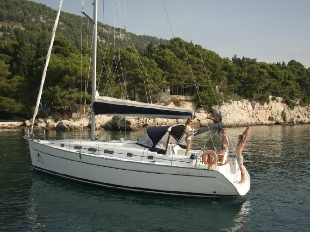 Rental yacht Split - Bénéteau Cyclades 43.4 (2007) new full batten mainsail and dinghy 2012, bimini 2013, new genoa 2017, new upholstery 2017 on SamBoat