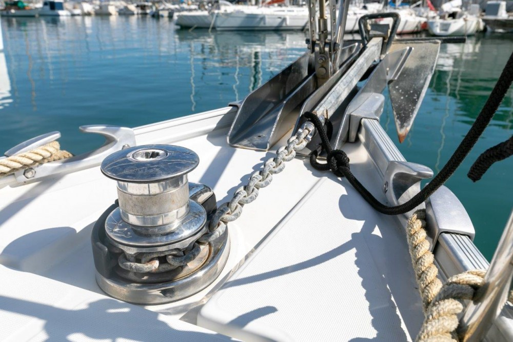 Boat rental Bénéteau Cyclades 43.4 (2007) new full batten mainsail and dinghy 2012, bimini 2013, new genoa 2017, new upholstery 2017 in Split on Samboat