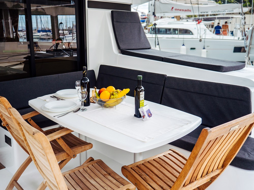 Rent a Lagoon Lagoon 42 (2017) equipped with generator, A/C (saloon+cabins) Split