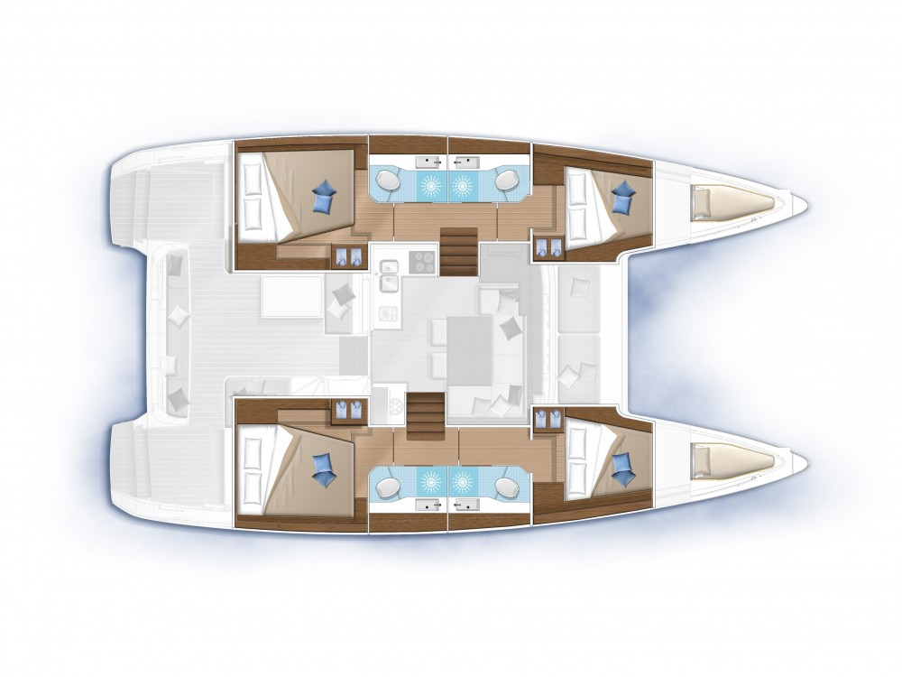 Hire Catamaran with or without skipper Lagoon Slano