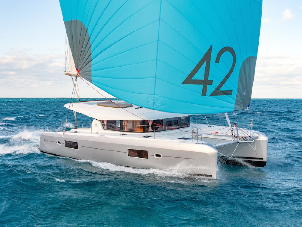 Rental Catamaran in Slano - Lagoon Lagoon 42 (2019) MALA KATE I equipped with generator, A/C (saloon)