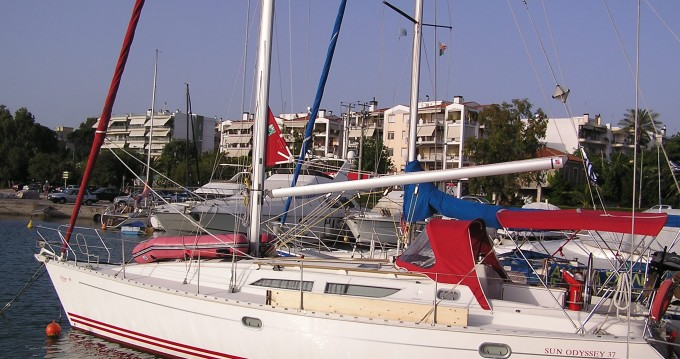 Boat rental Lefkas Marina cheap Sun Odyssey 37.1