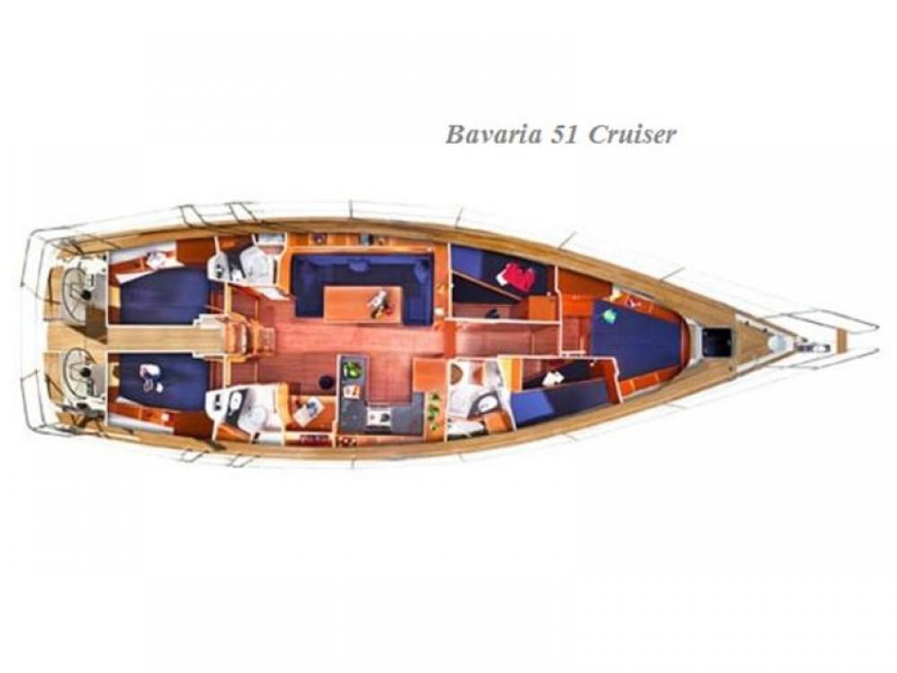 Rental yacht Kontokali - Bavaria Bavaria 51 Cruiser on SamBoat