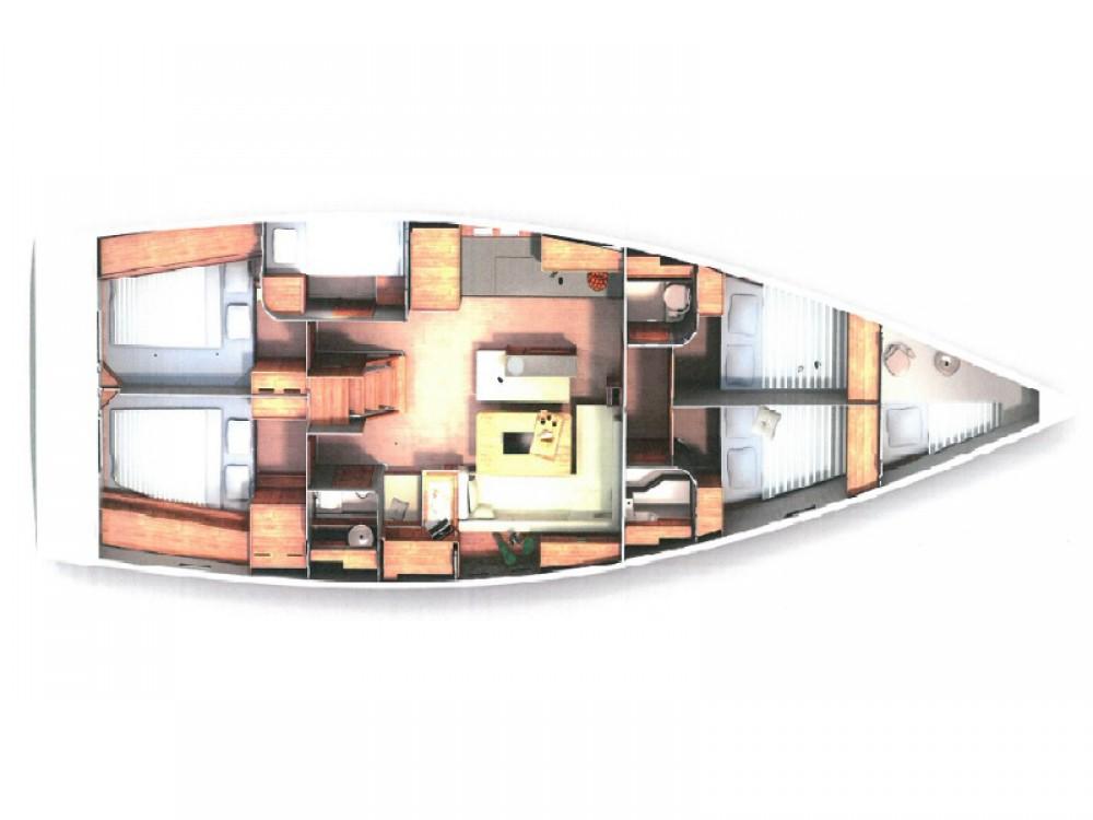 Rental Sailboat in Kaštel Gomilica - Hanse Hanse 505 - 4 cabin Version