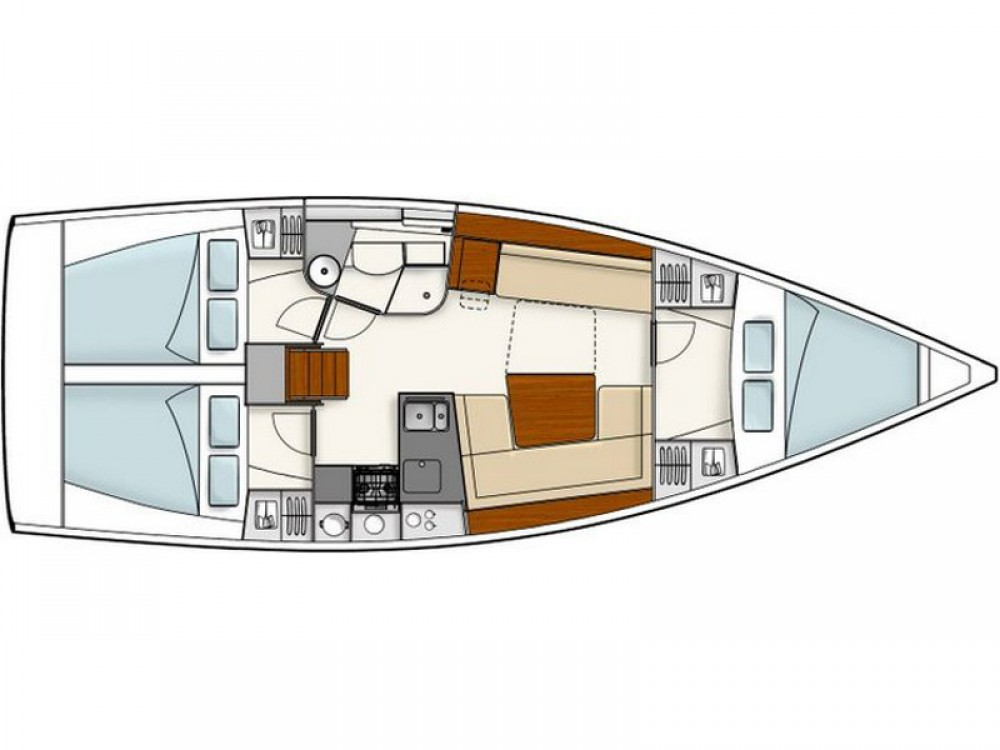 Boat rental Marina Kaštela cheap Hanse 385