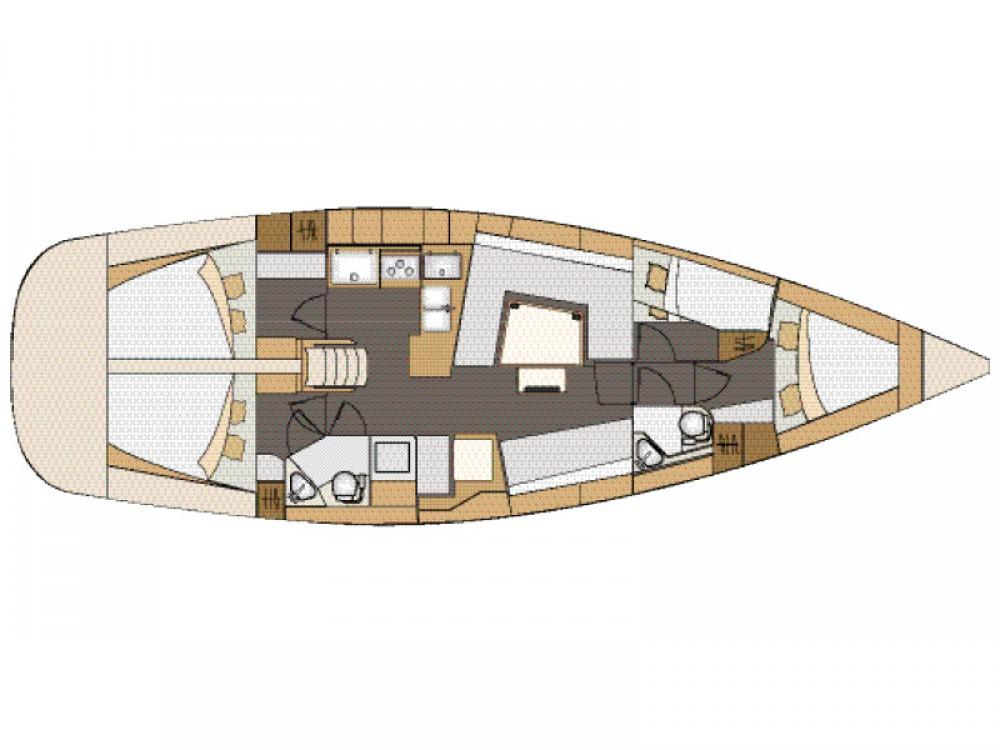 Boat rental Elan Elan 45 Impression - with AC in Zadar on Samboat