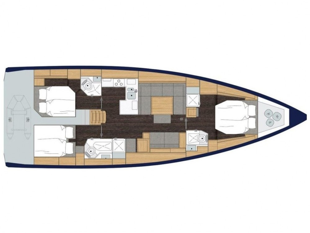 Boat rental Marina Zadar cheap Bavaria C50 Style - AC + GEN