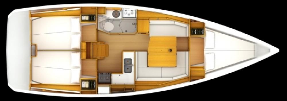 Boat rental Jeanneau JEANNEAU SO 379 in Sant Antoni de Portmany on Samboat
