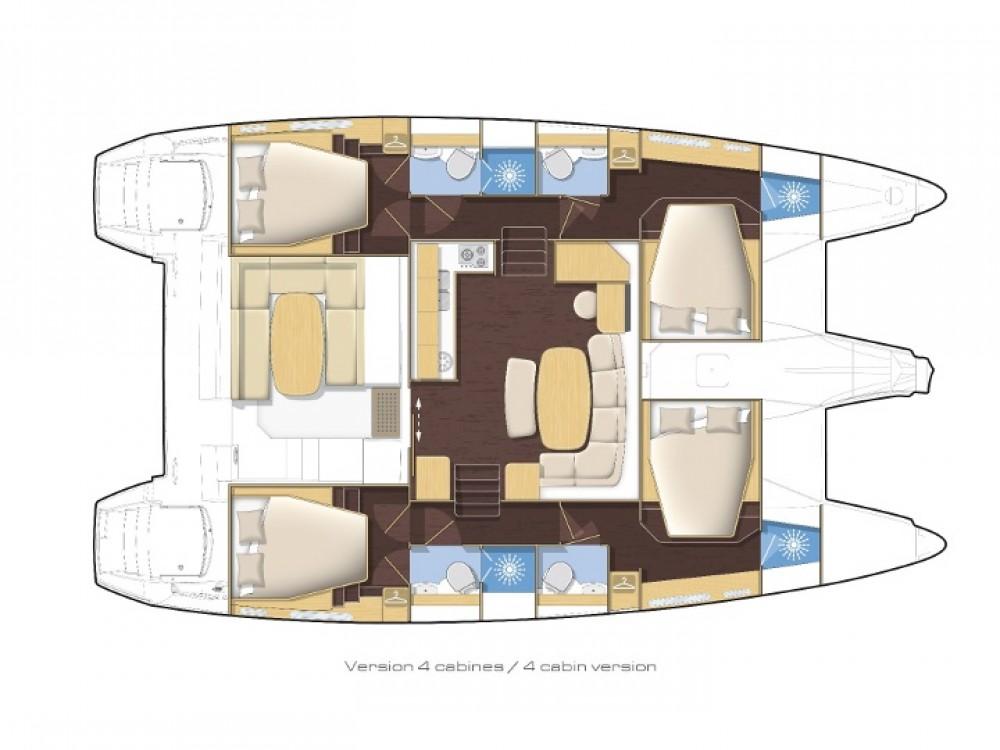 Rental Catamaran in Sant Antoni de Portmany - Lagoon Lagoon 421