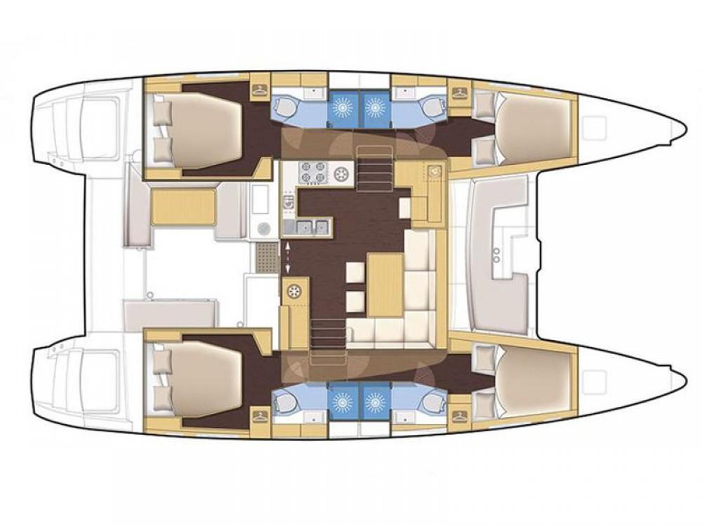 Rent a Lagoon Lagoon 450  Flybridge Olbia