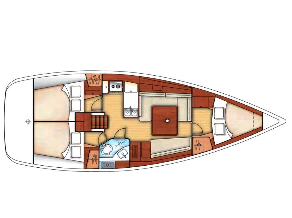 Bénéteau Oceanis 37 between personal and professional Olbia