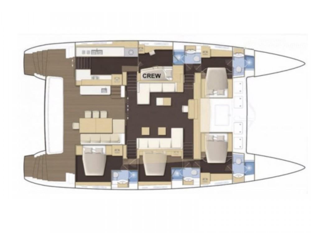 Boat rental Alimos Marina cheap Lagoon 62 - 4 cabin version